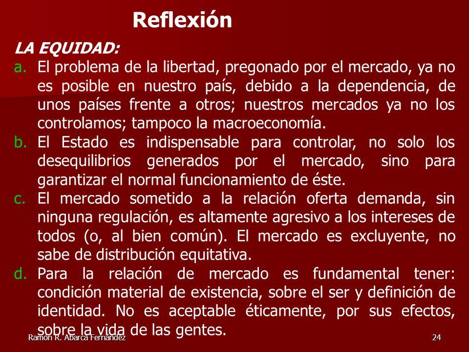 Reflexión LA EQUIDAD: