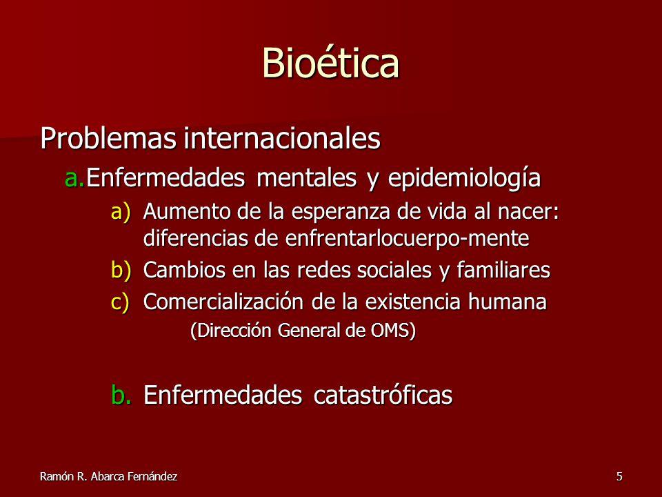 Bioética Problemas internacionales