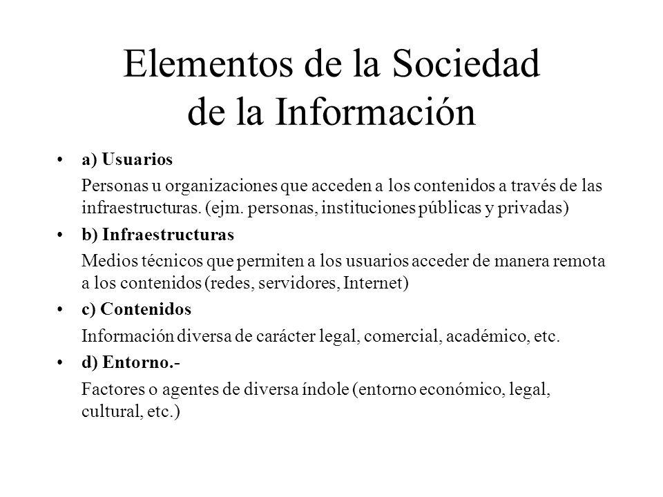 Elementos de la Sociedad de la Información
