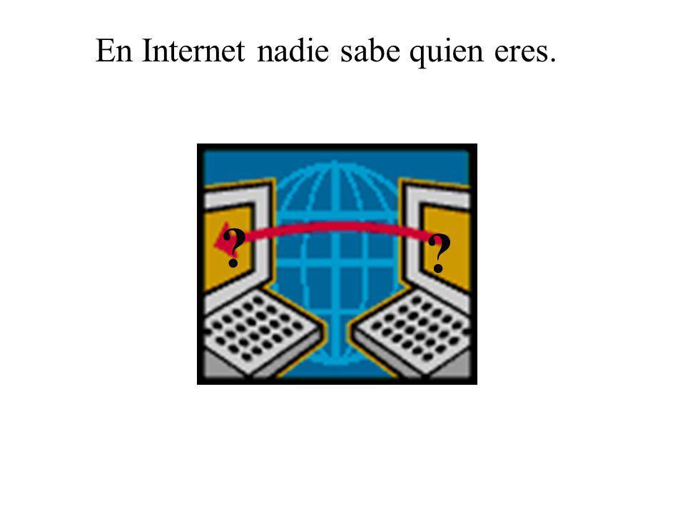 En Internet nadie sabe quien eres.