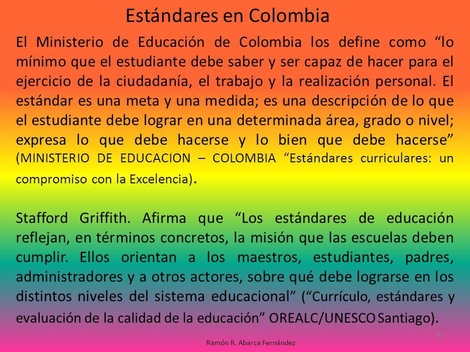 Estándares en Colombia