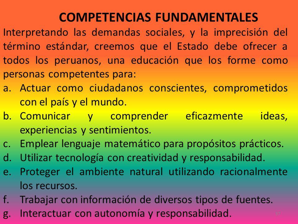 COMPETENCIAS FUNDAMENTALES