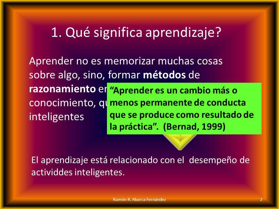 1. Qué significa aprendizaje