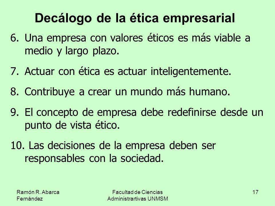 Decálogo de la ética empresarial