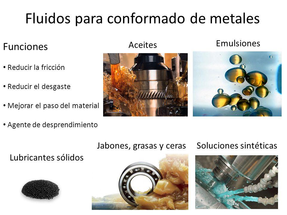 Fluidos para conformado de metales