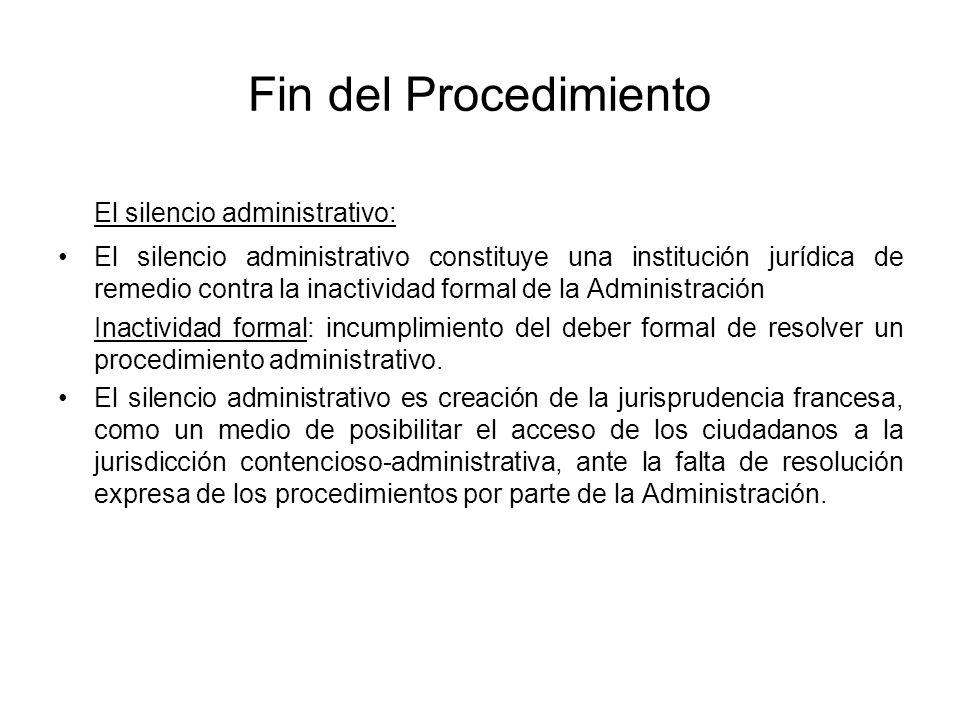 El silencio administrativo: