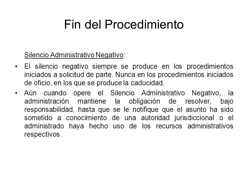 Silencio Administrativo Negativo: