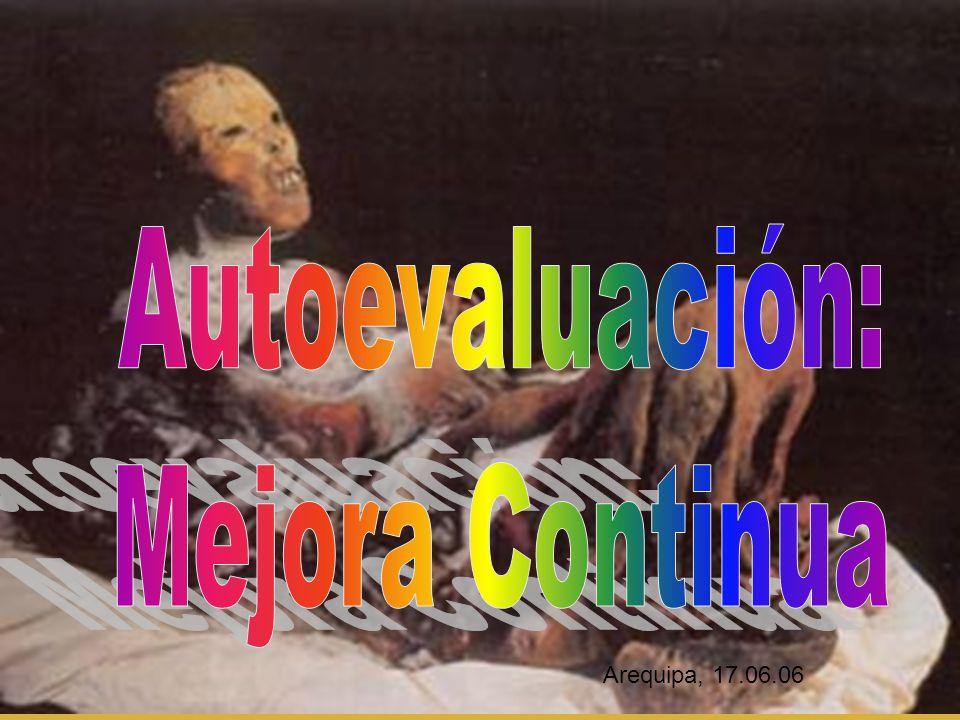 Autoevaluación: Mejora Continua Arequipa, 17.06.06