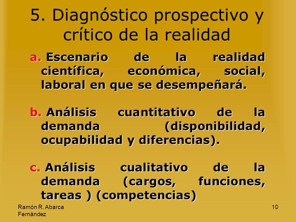 5. Diagnóstico prospectivo y crítico de la realidad