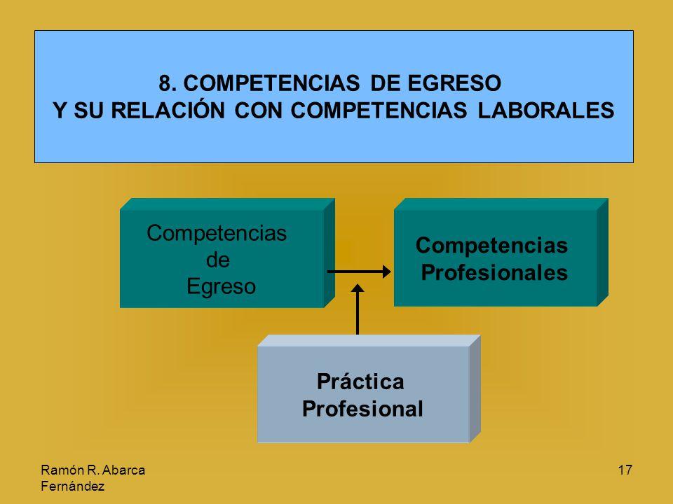 8. COMPETENCIAS DE EGRESO Y SU RELACIÓN CON COMPETENCIAS LABORALES