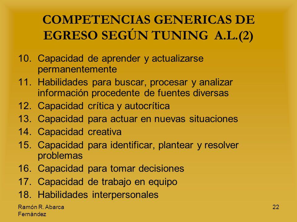 COMPETENCIAS GENERICAS DE EGRESO SEGÚN TUNING A.L.(2)