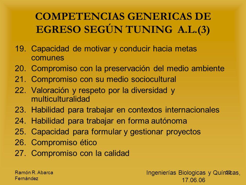 COMPETENCIAS GENERICAS DE EGRESO SEGÚN TUNING A.L.(3)