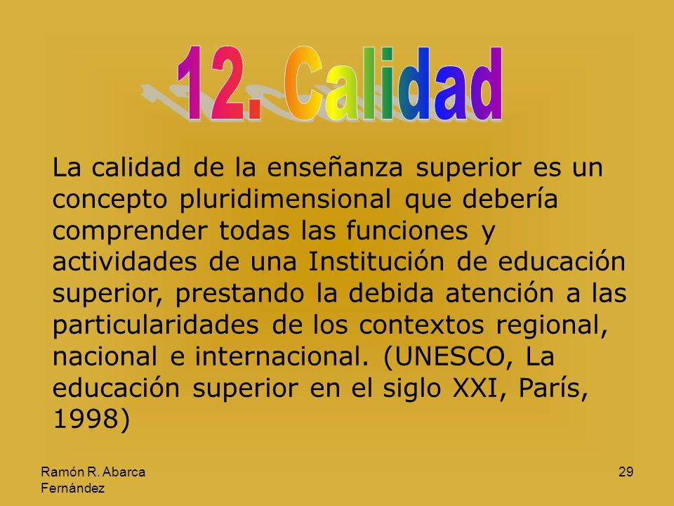 12. Calidad