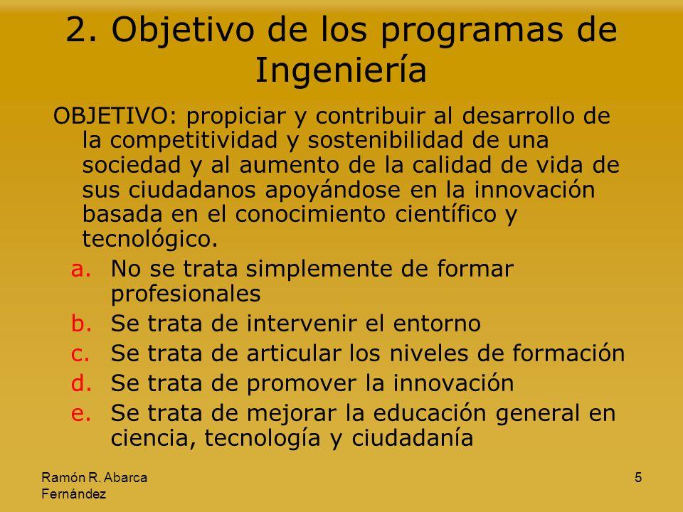 2. Objetivo de los programas de Ingeniería