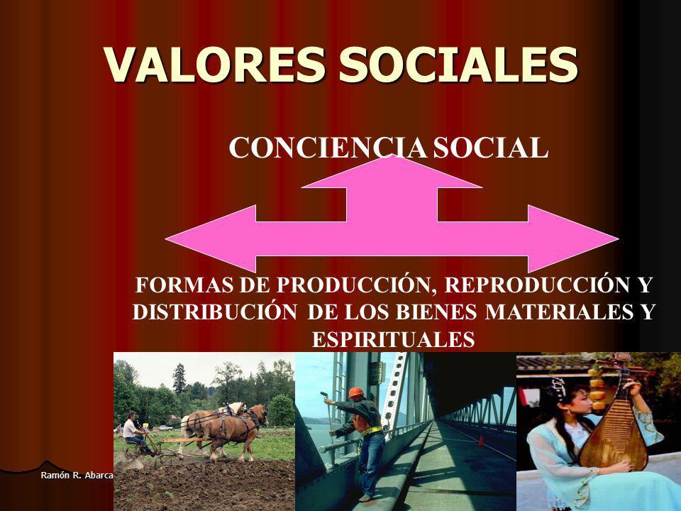 VALORES SOCIALES CONCIENCIA SOCIAL