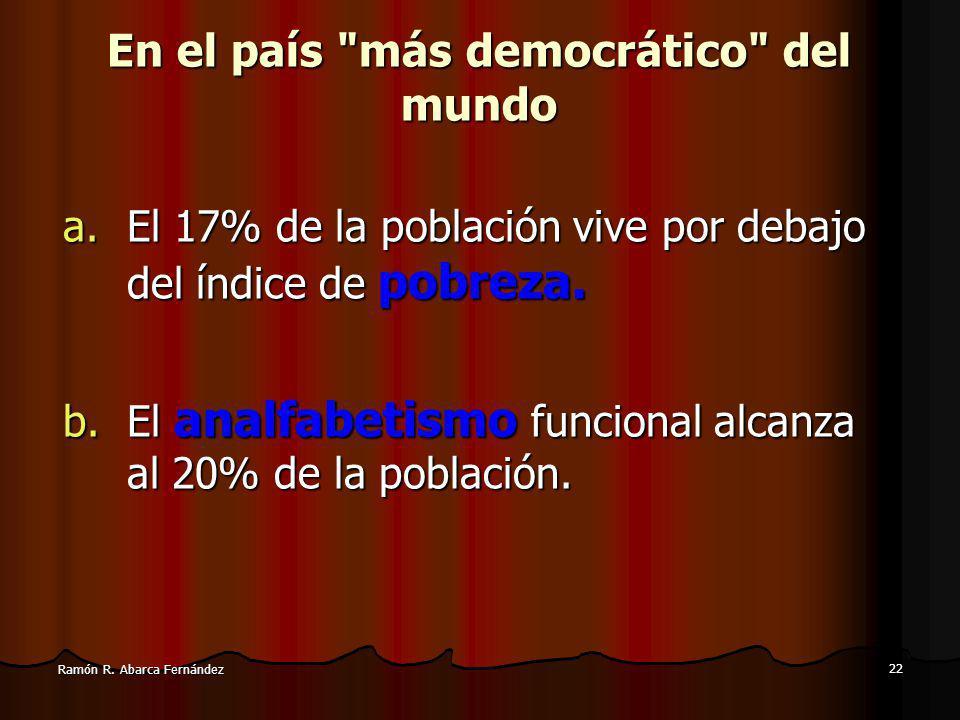 En el país más democrático del mundo
