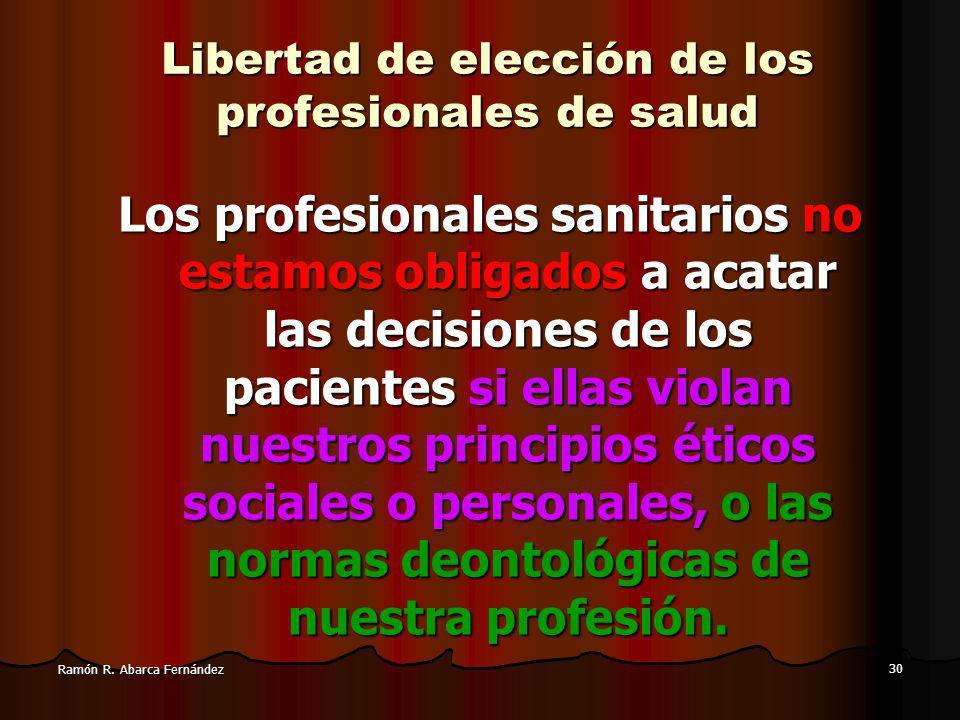 Libertad de elección de los profesionales de salud