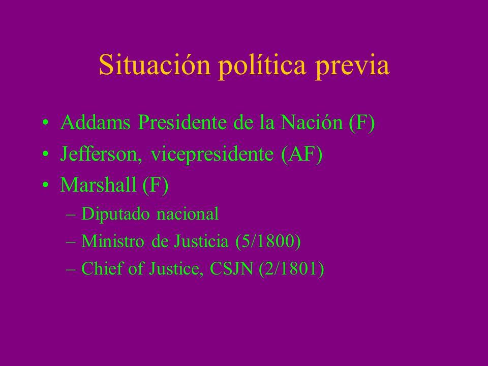 Situación política previa