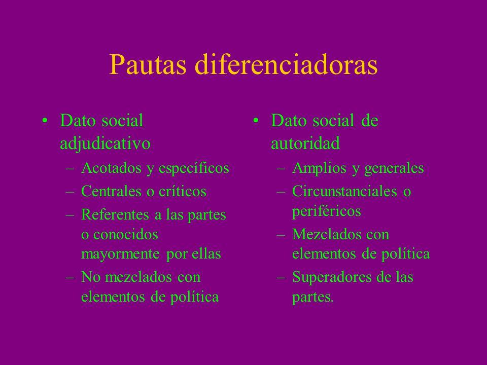 Pautas diferenciadoras