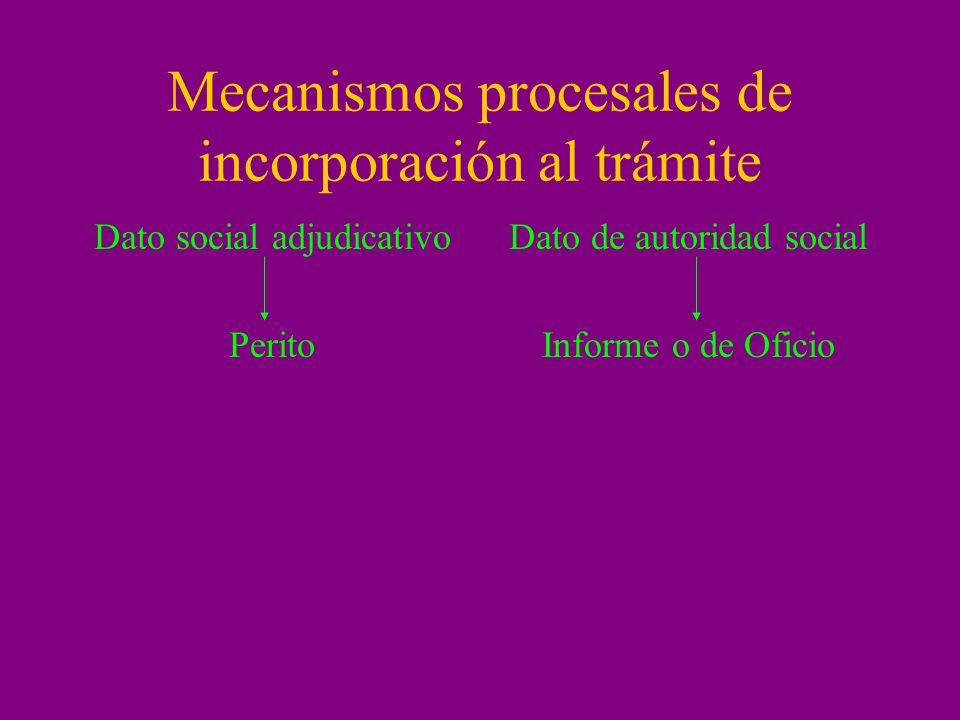 Mecanismos procesales de incorporación al trámite