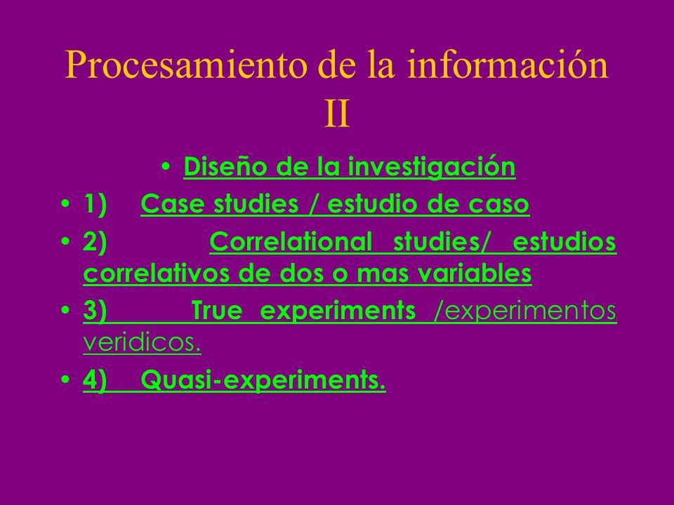 Procesamiento de la información II