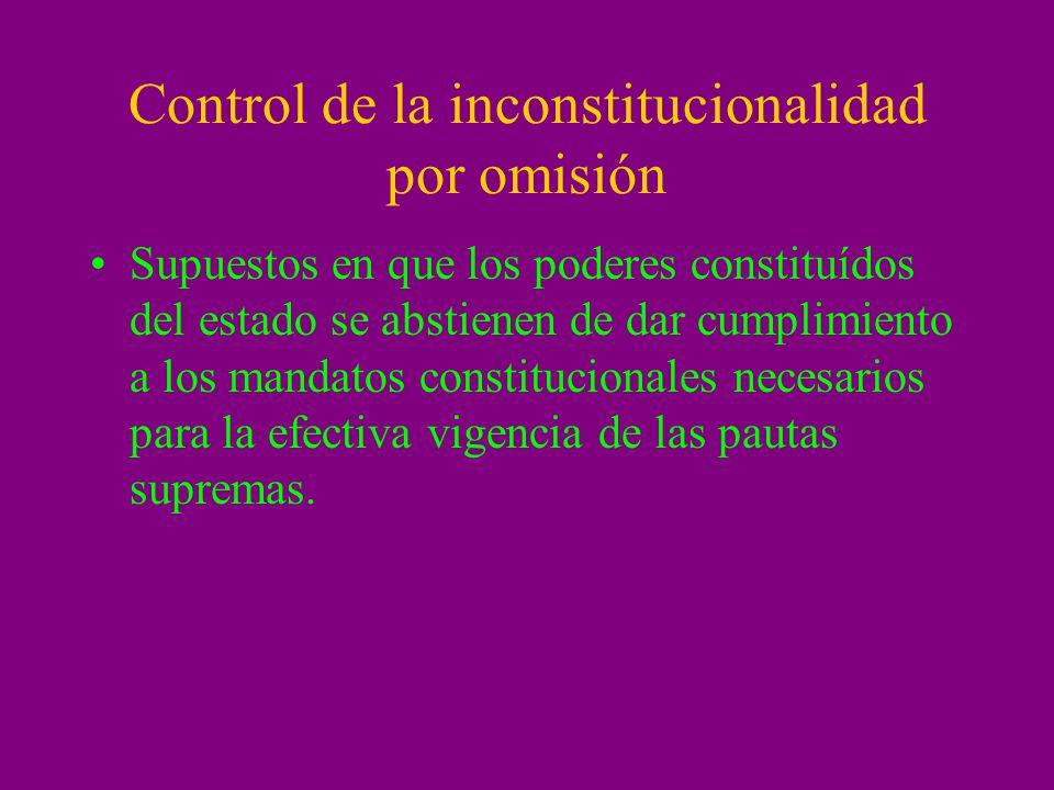 Control de la inconstitucionalidad por omisión