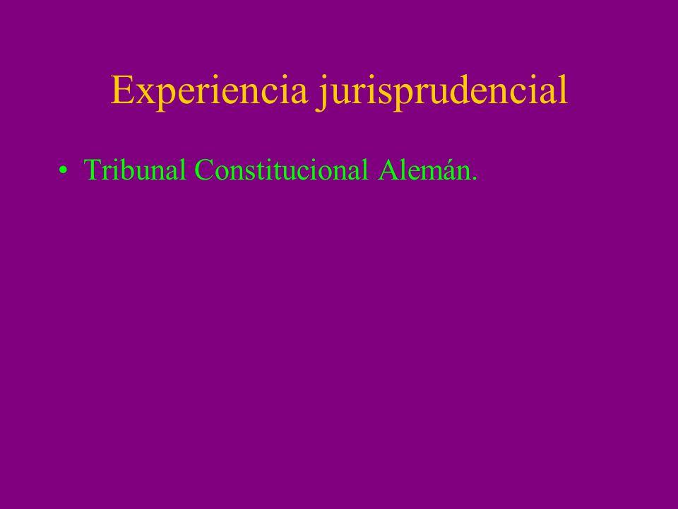 Experiencia jurisprudencial