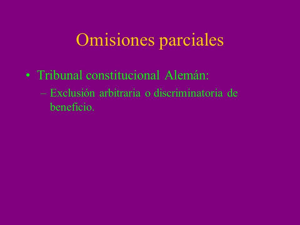 Omisiones parciales Tribunal constitucional Alemán: