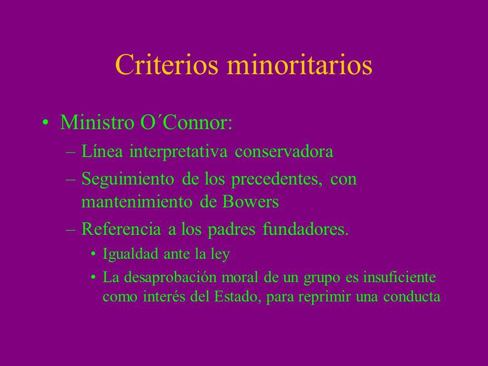 Criterios minoritarios