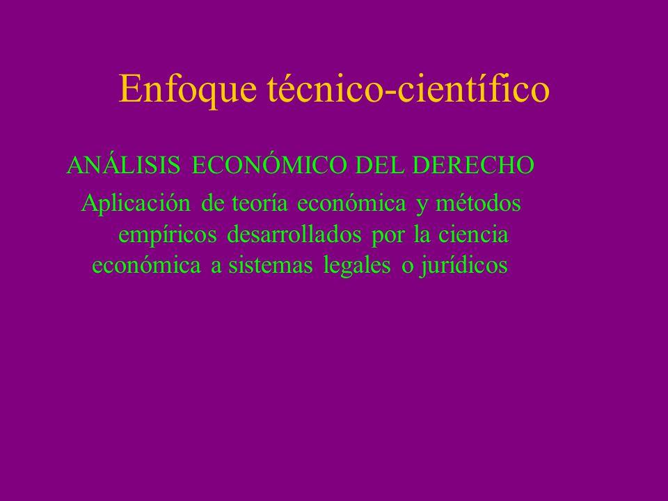 Enfoque técnico-científico
