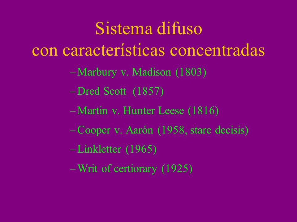 Sistema difuso con características concentradas