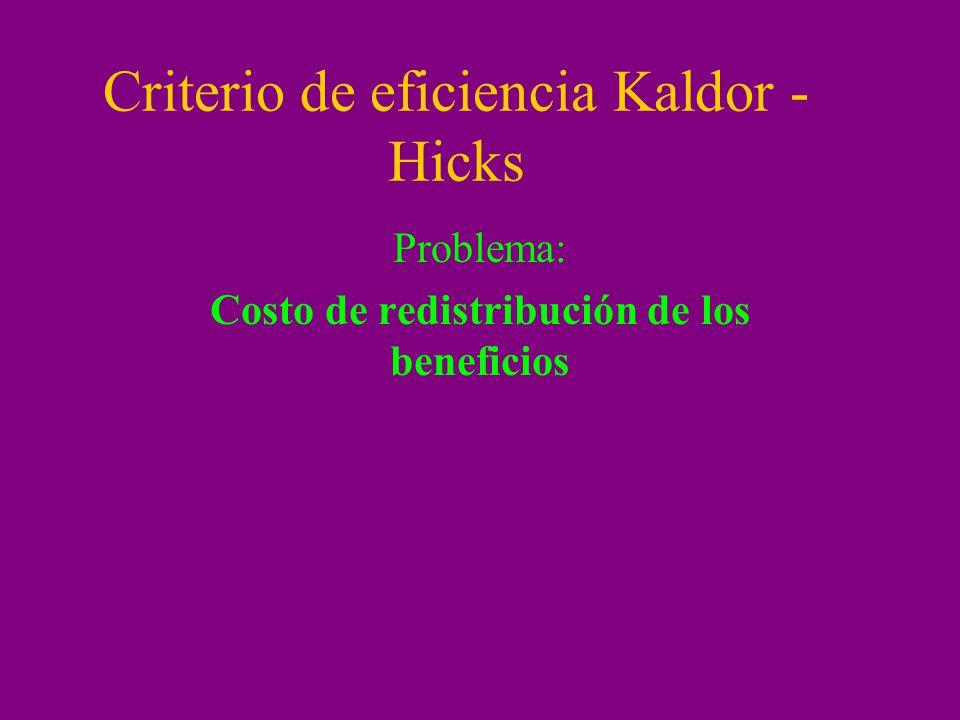 Criterio de eficiencia Kaldor -Hicks