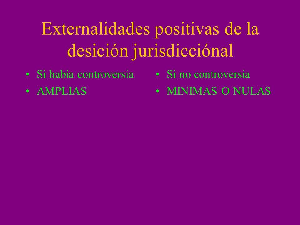 Externalidades positivas de la desición jurisdicciónal
