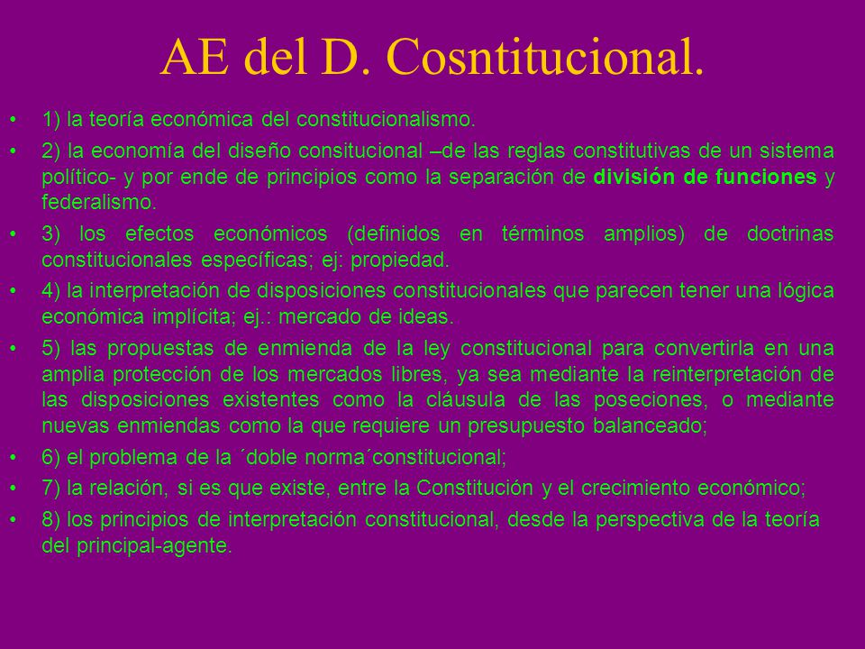 AE del D. Cosntitucional.