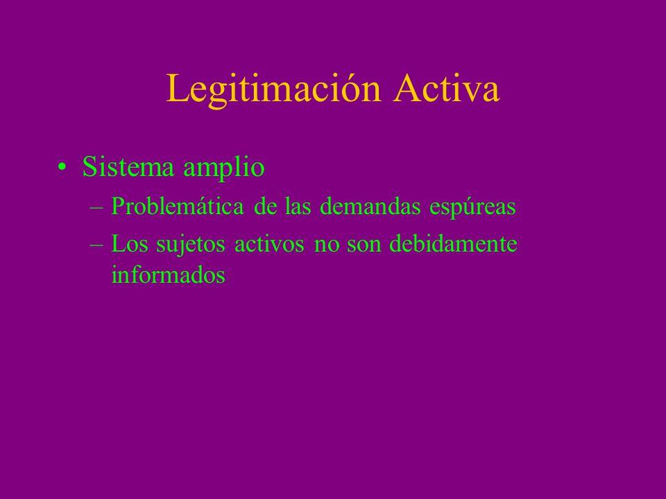 Legitimación Activa Sistema amplio