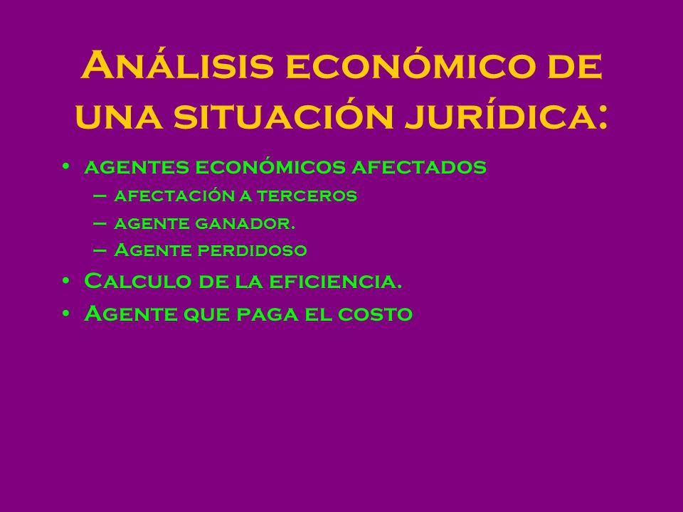 Análisis económico de una situación jurídica: