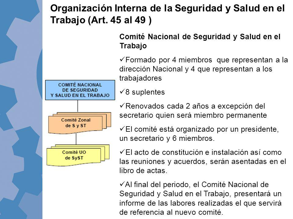 Organización Interna de la Seguridad y Salud en el Trabajo (Art