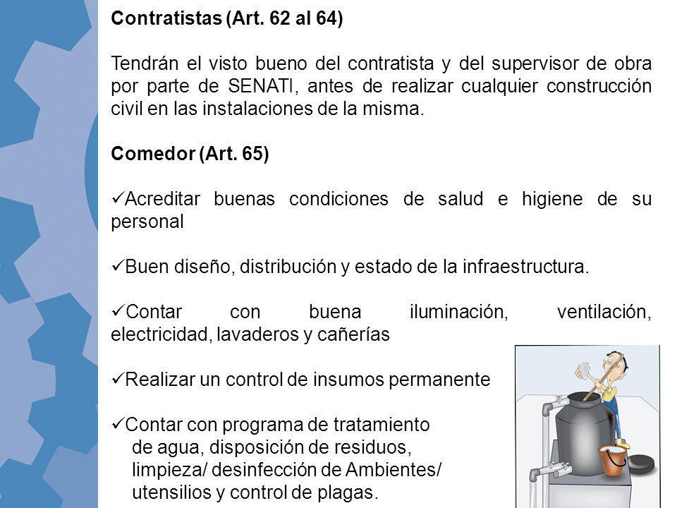 Contratistas (Art. 62 al 64)