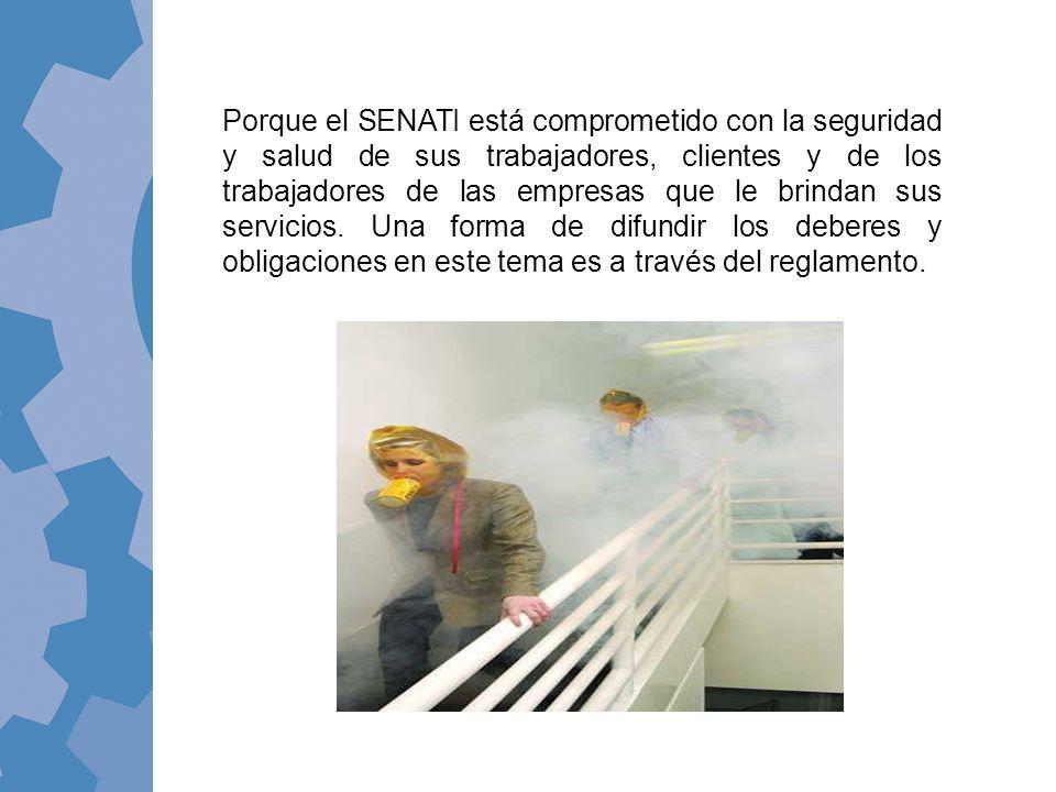 Porque el SENATI está comprometido con la seguridad y salud de sus trabajadores, clientes y de los trabajadores de las empresas que le brindan sus servicios.