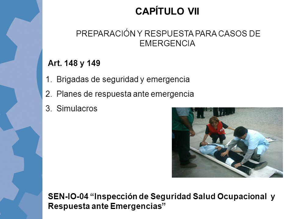 PREPARACIÓN Y RESPUESTA PARA CASOS DE EMERGENCIA