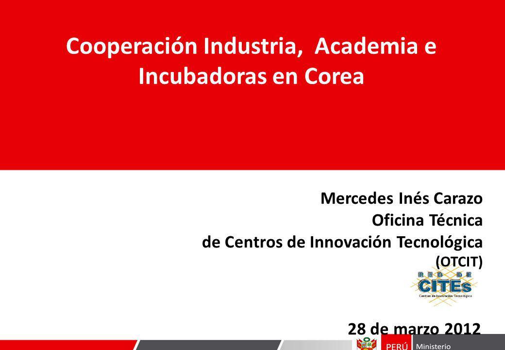 Cooperación Industria, Academia e Incubadoras en Corea