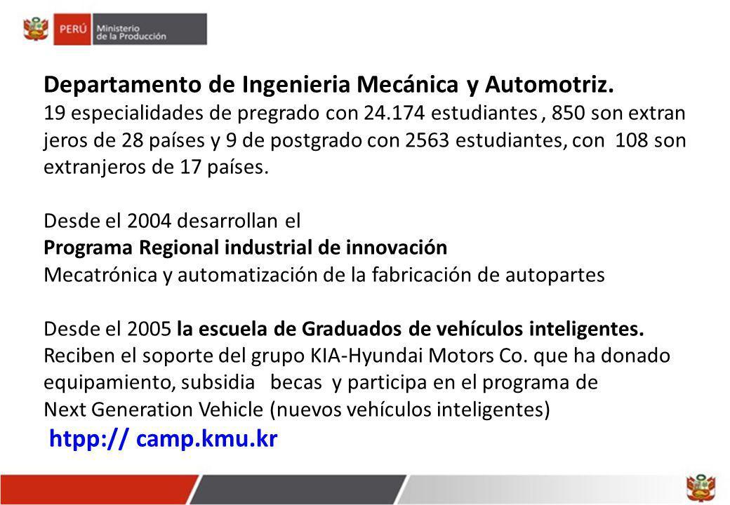 Departamento de Ingenieria Mecánica y Automotriz