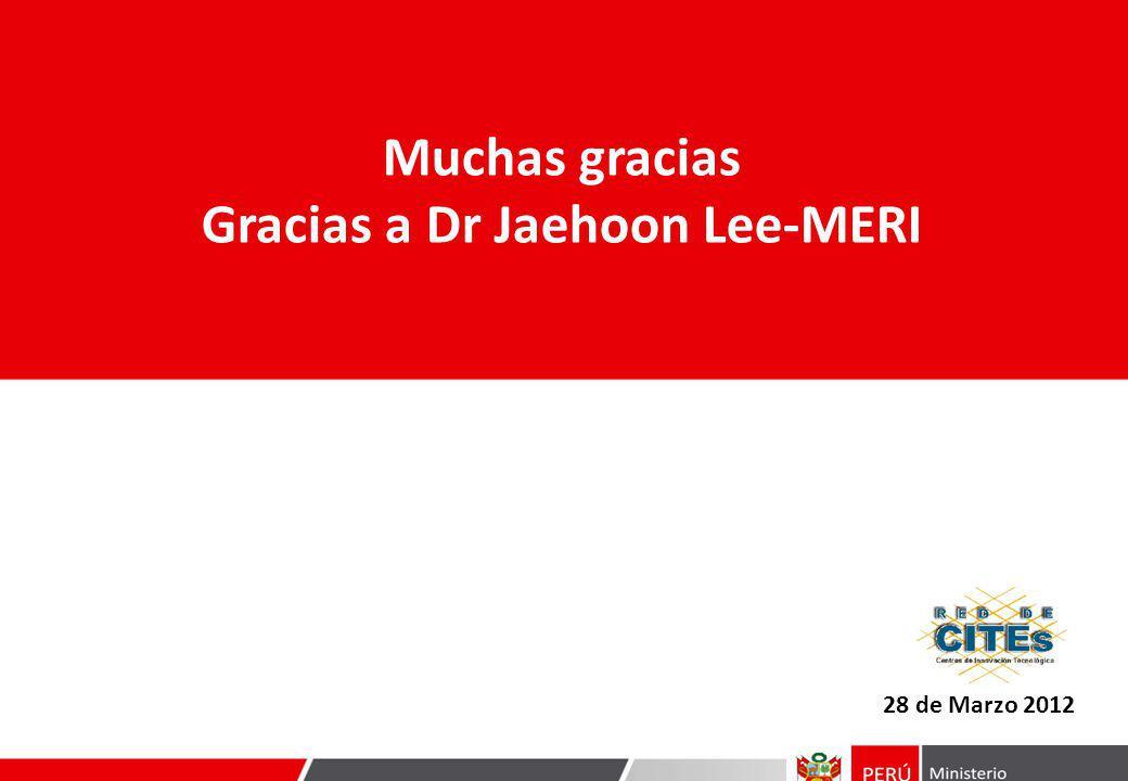 Gracias a Dr Jaehoon Lee-MERI