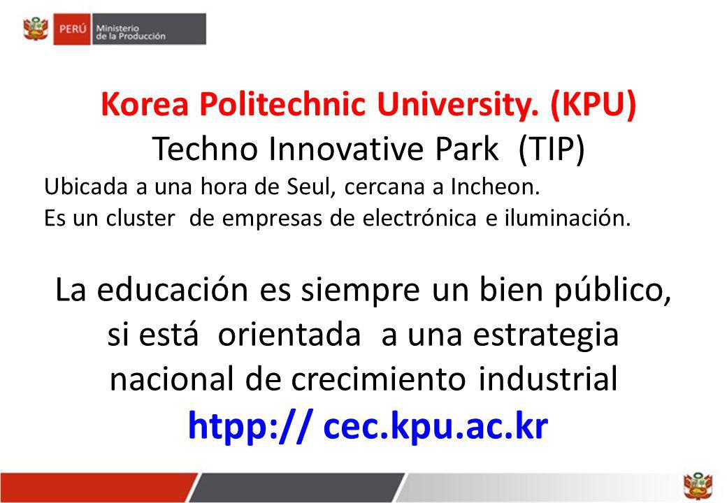 Korea Politechnic University. (KPU)