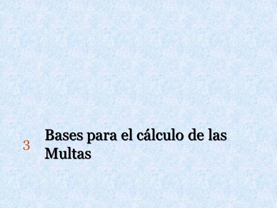 Bases para el cálculo de las Multas