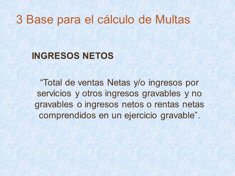 3 Base para el cálculo de Multas