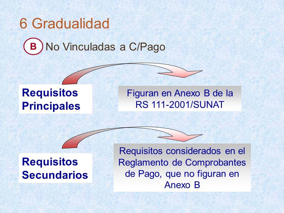 Figuran en Anexo B de la RS 111-2001/SUNAT