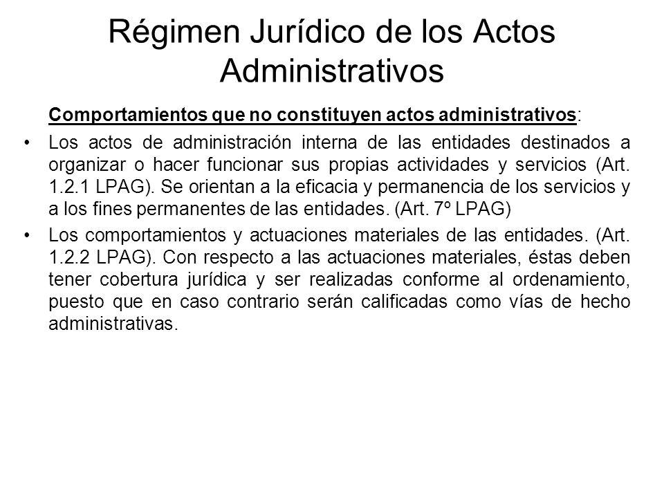 Régimen Jurídico de los Actos Administrativos