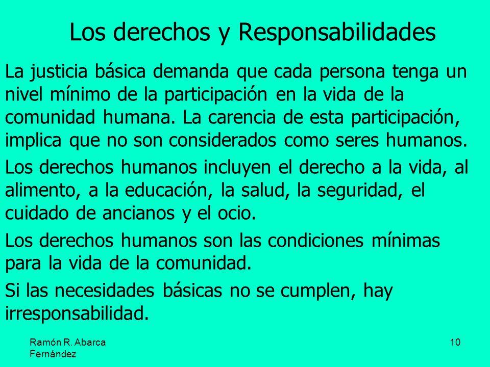 Los derechos y Responsabilidades