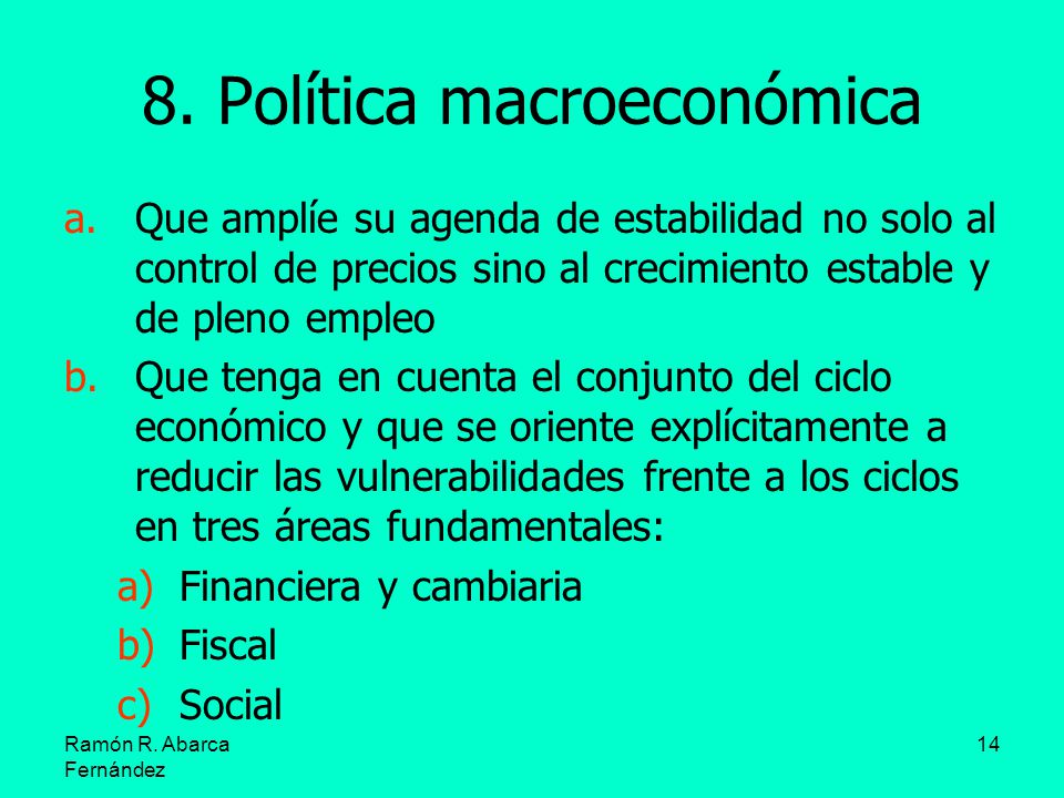 8. Política macroeconómica